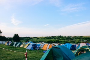 tents at what might or might not be a music festival
