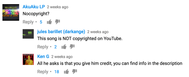 YouTube copy permission