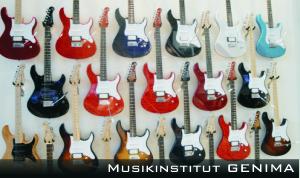 Gitarren an Wand