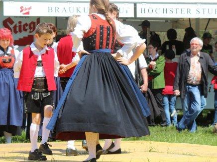 Maifest 2014 in Mieming-See, Frühschoppenkonzert der Musikkapelle Mieming zum Auftakt, Fotos: Knut Kuckel