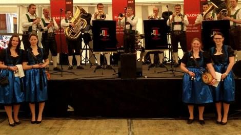Die Mieminger Musikanten in der Musiktruch'n, Foto: Musikkapelle Mieming