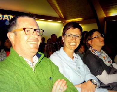 MK-Mieming Obmann Michael und Nicole Holzeis ließen sich das Konzert der Nachwuchsmusikanten nicht entgehen.