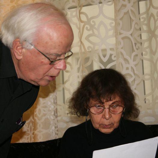 Kjell Wernøe og Sofia Gubaidulina. Oslo 2013