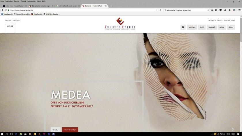Website Theater Erfurt.