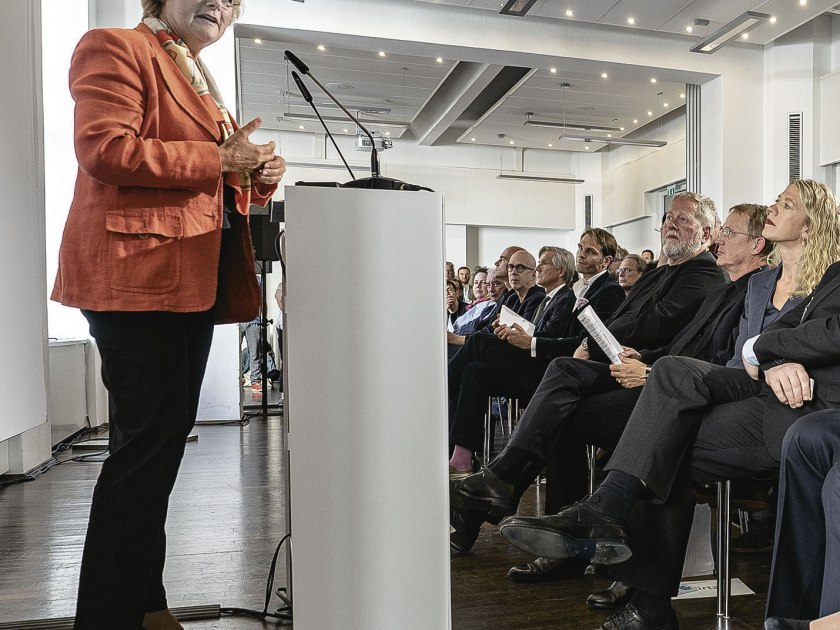 Kulturstaatsministerin Monika Grütters bei ihrer Begrüßungsrede. Foto: Martin Hufner