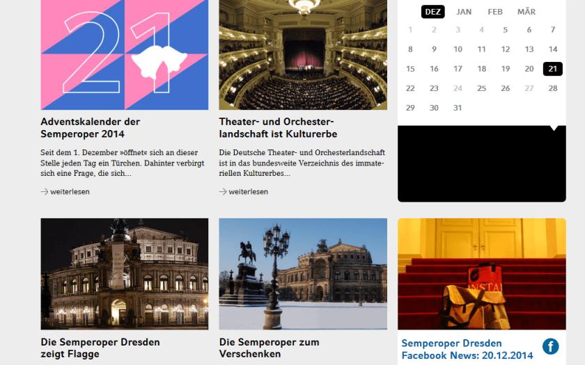 Semperoper Dresden. Webiste 2014/12