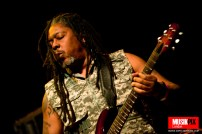 """Clifford """"Moonie"""" Pusey of Steel Pulse performs live at The Forum in London"""