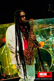 Jerry Johnson of Steel Pulse performs live at The Forum in London