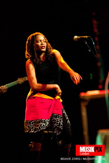 Keysha McTaggart of Steel Pulse performs live at The Forum in London