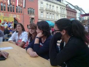 Lisa, Sabine, Nadine und Simone