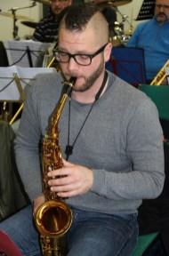 Florian am Alt Saxophon
