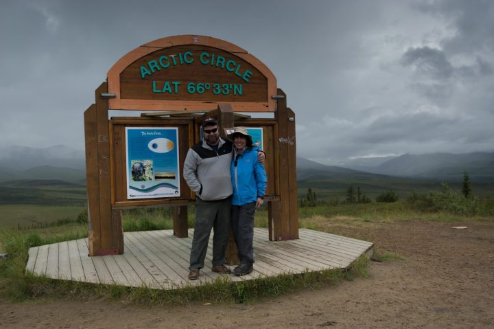 Irene and Bill at the Arctic Circle