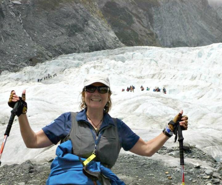 Stacey Wittig at Franz Joseph Glacier