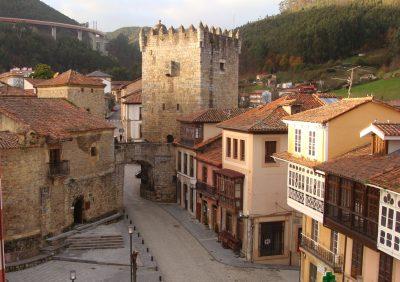 Salas, Asturias. Old medieval town.