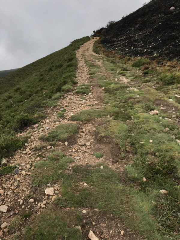 Very steep ascent. This photo is not an illusion. It really is this steep.