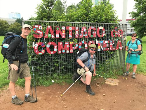 Steven, Billy, and Irene at the Santiago city limits sign