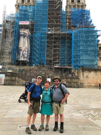 Steven, Irene, & Billy in front of the Cathedral