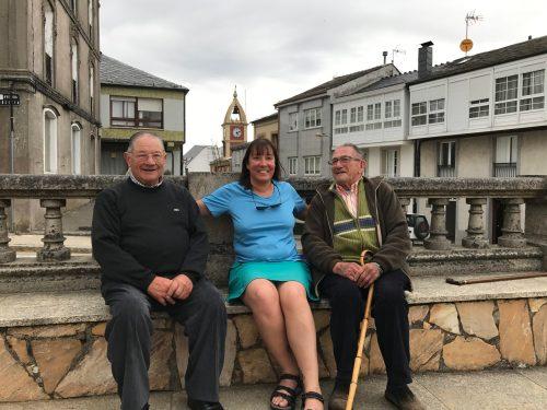 Irene with 2 local gentlemen from Fonsagrada