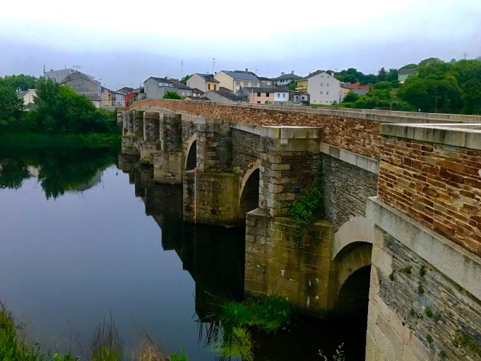 The Old Roman Bridge in Lugo