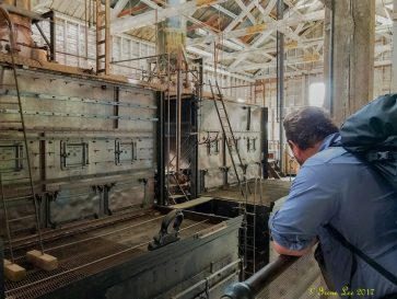 Billy looking at The old Kennicott Power Plant