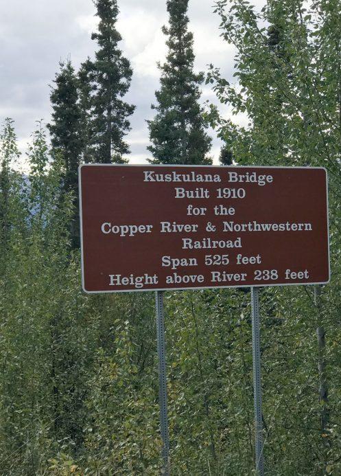 Kuskulana Bridge Sign