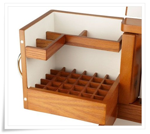 Lori Greiner Luxury Deluxe Wood Cosmetic Box On QVC