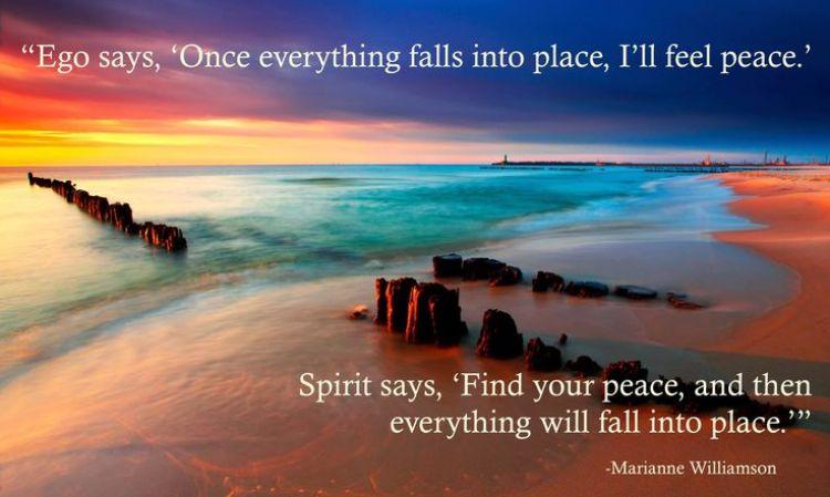 Ego vs. Spirit / inspirational quotes / Musings on Momentum