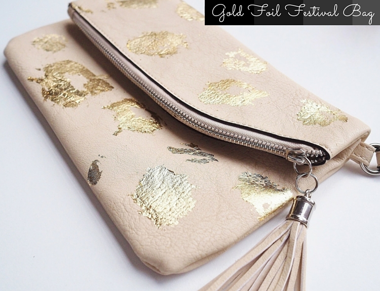 Music Festival DIY Gold Foil Bag Graphic
