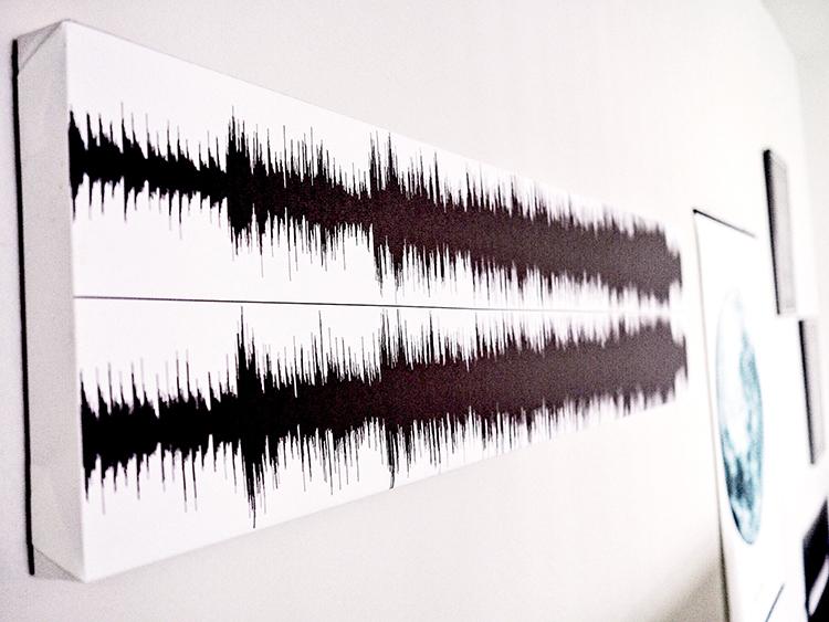 Heartbeat Line Art : Diy soundwave art musings on momentum