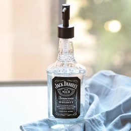 An Easy Last Minute Gift – DIY Jack Daniels Soap Dispenser