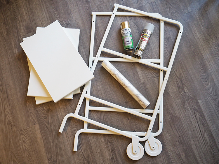 IKEA Sunnersta DIY bar cart