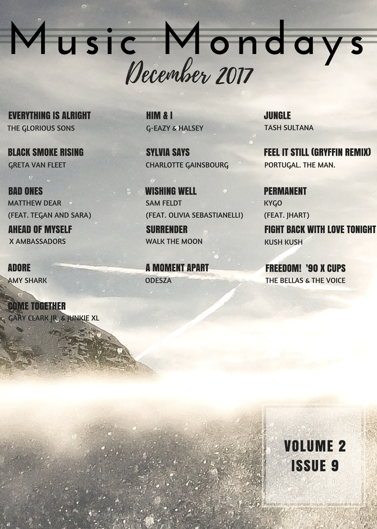 Music Mondays - December 2017 Playlist