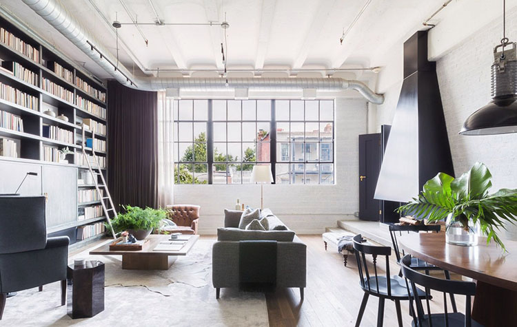This Washington D.C. bachelor pad tour is full of clean lines and bold, rich shades designed to create an urban, loft-like aesthetic.