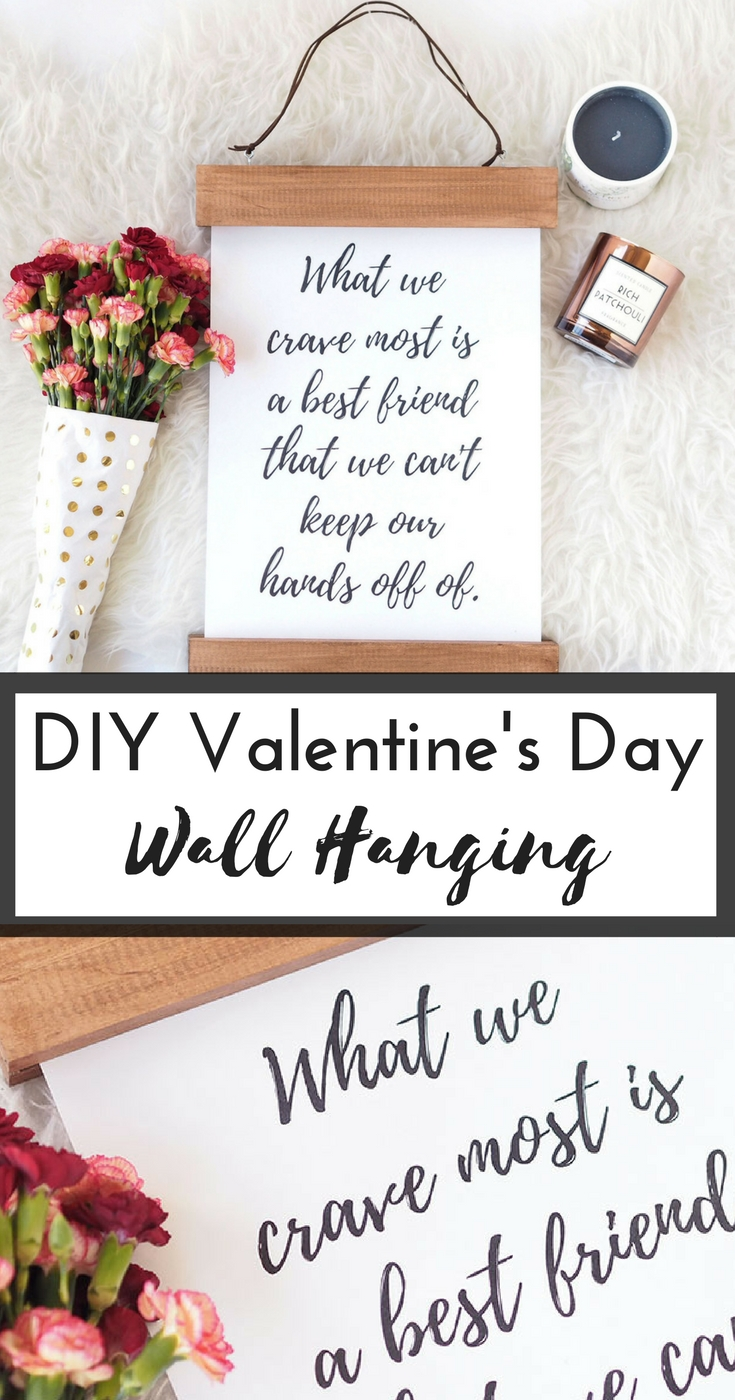 This easy Valentine's Day DIY wall hanging is simple, fun, and budget friendly. The best part about it? It makes for the perfect unique gift to give to your significant other, friends, and family this Valentine's Day!