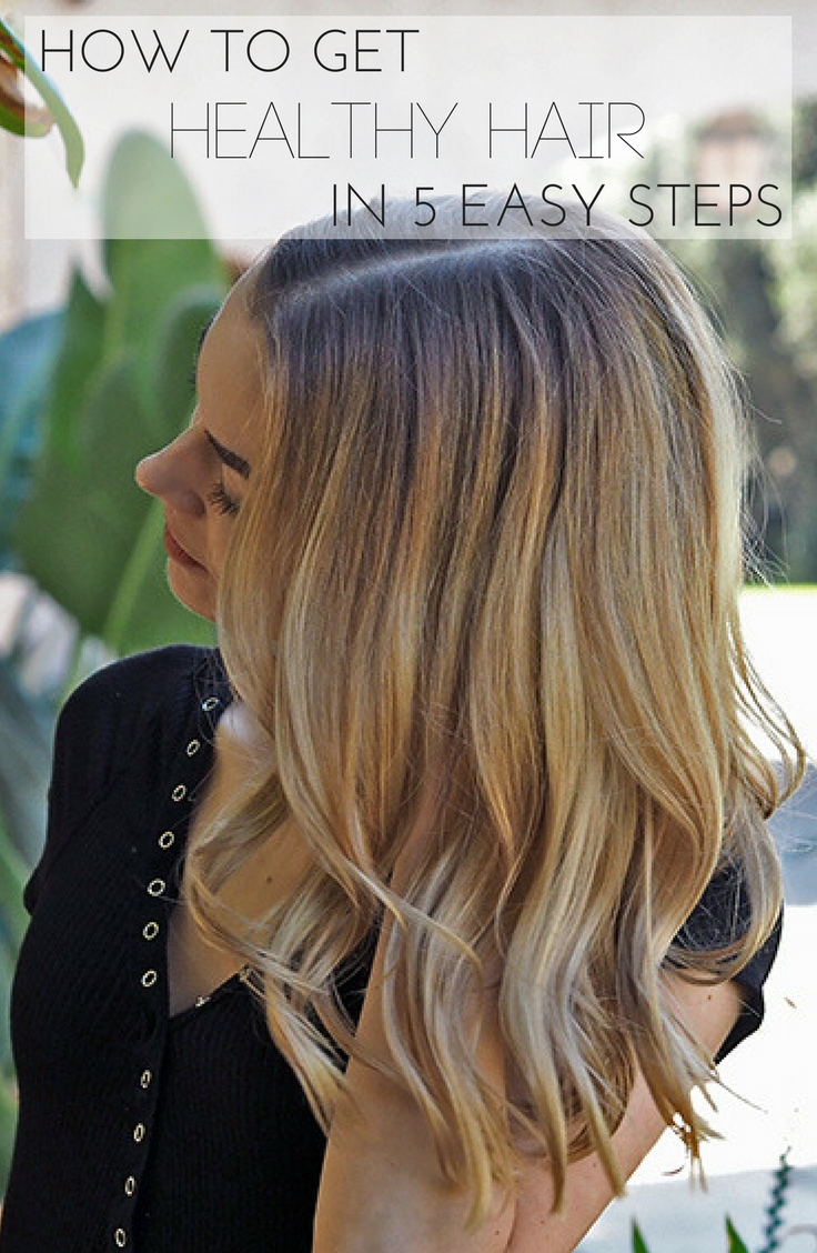 How to Get Healthy Hair Pinterest Graphic