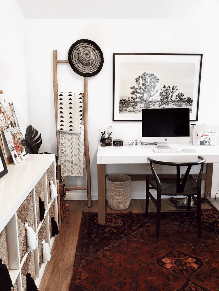 My Mid Century Bohemian Office Inspiration Musings On Momentum