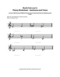 L2: TH Semitones and Tones