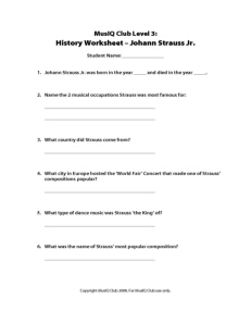 L3: History Strauss Quiz