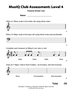 L4: Assessment Practice Written Test
