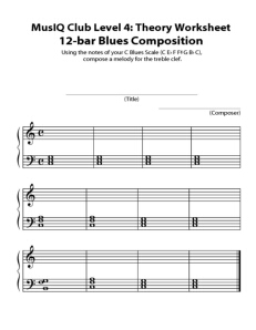L4: Composition 12 Bar Blues Draft