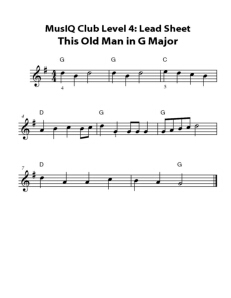 L4: LS This Old Man in G