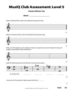 L5: Assessment Practice Written Test