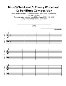 L5: Composition 12 Bar Blues Draft