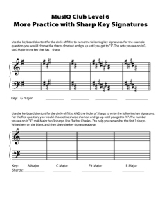 L6: TH More Practice with Sharp Key Signatures