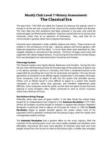 L7: History Classical Era