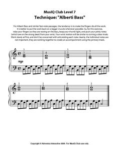 L7: Technique Alberti Bass Wrist Exercise