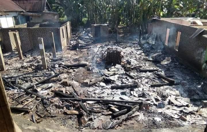 Kebakaran di Desa Kebur Hanguskan 3 Rumah