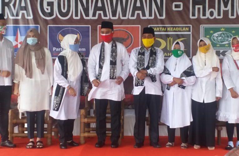 Tujuh Parpol Deklarasi Dukung Paslon H2G-Mulya
