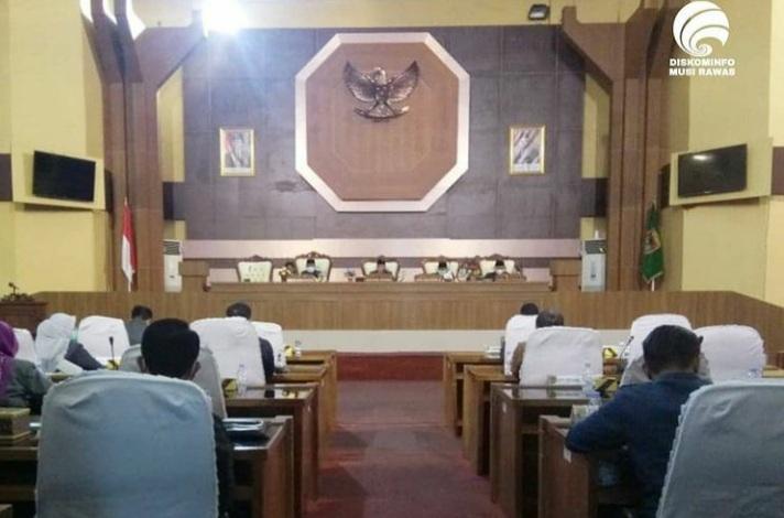 DPRD Mura Rapat Paripurna Pengumuman Usulan Pemberhentian Bupati/Wabup 2016 – 2021