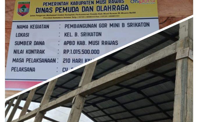 Dispora Akui Bangunqn GOR Mini B Srikaton 'Miring' dan Akan Diperbaiki